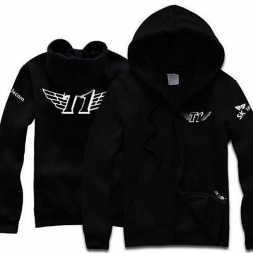 Free shipping SKT1 Team CS2 Jersey Cotton Casual Zipper Hoodie