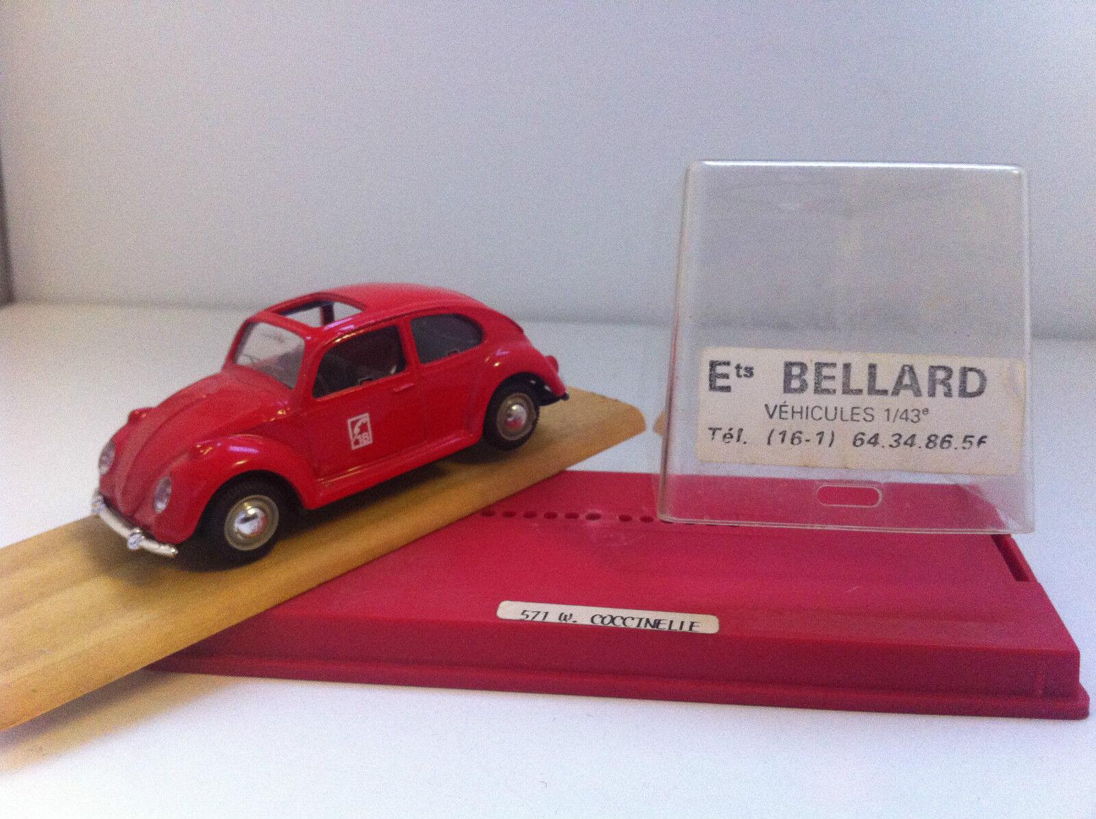 Solido (Ets Bellard) - Volkswagen Coccinelle Beetle Pompiers (1 43) - Rare
