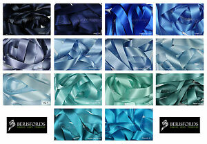 Double-Satin-Ribbon-Berisfords-Blue-Shades-8-Widths-Short-Lengths-or-Full-Reels