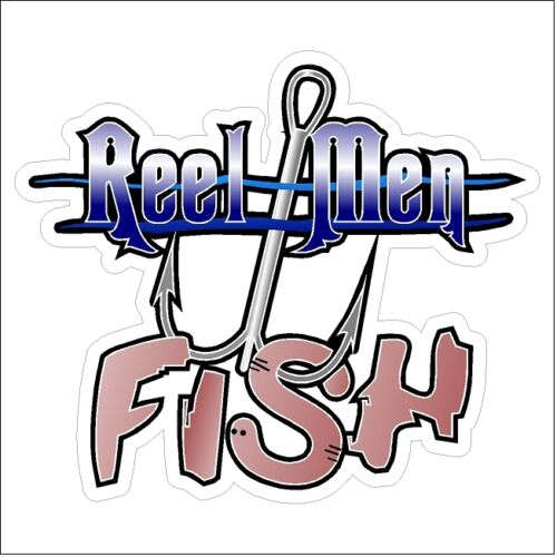 Reel Men Fish Fly Fishing Bass Trout Catfish Car Truck Boat Funny Decal Sticker