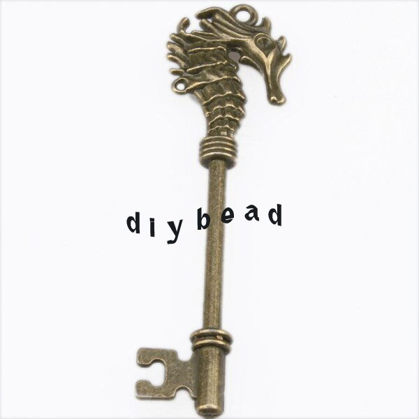 7x 144336 Hotsale New Sea Horse Key Vintage Bronze Alloy Pendants Findings