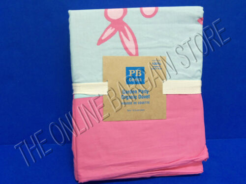 Pottery Barn Teen Garden Party Organic Bed Dorm Duvet Cover Twin Bright Pink
