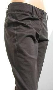 MARITHE-FRANCOIS-GIRBAUD-pantaloni-rigati-neri-cotone-NUOVI-40-IT