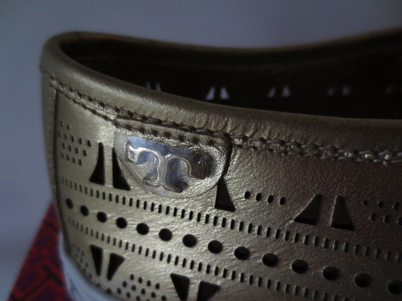 TORY BURCH Sneakers Metallic Bronze Metallic Sneakers Gr.41 10 Leder Schuhe Sneaker 12168241 bf0b48