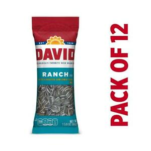 DAVID Roasted and Salted Ranch Sunflower Seeds, 1.625 oz ...