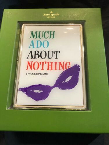"""/"""" Much Ado About Nothing/""""- ID Holder NIB LENOX KATE SPADE A Way With Words"""