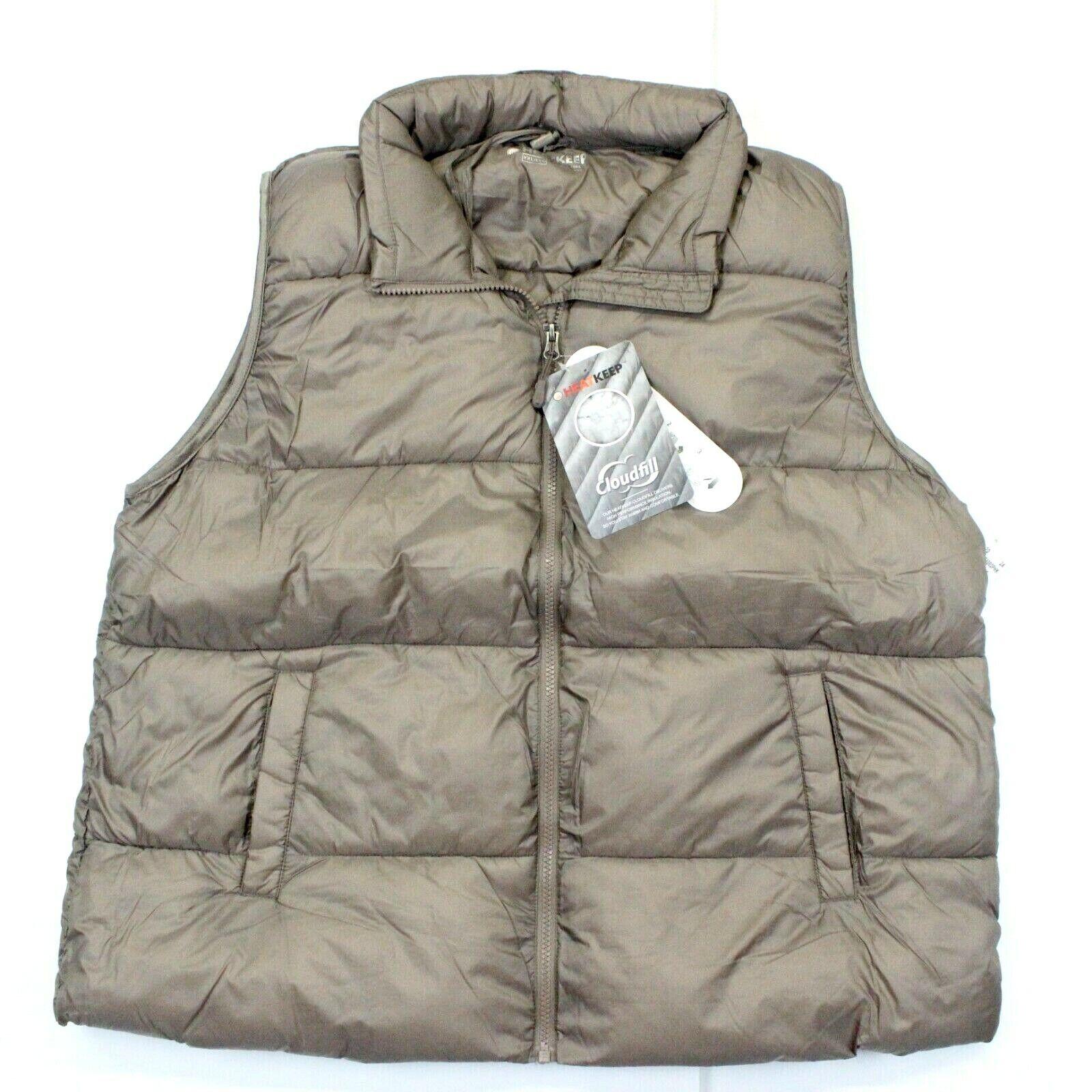 Women's HeatKeep Packable Puffer Vest - Cloudfill - Taupe - XXL