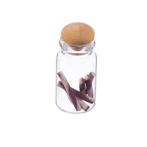 Dolls House Miniature Food Accessory Tiny Jar of Candy Sticks 1//12th Scale