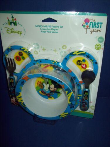 DISNEY First Years  Baby 4 Piece Feeding Set FINDING DORY NEMO MICKEY CARS New
