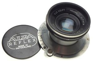 ALPA-Old-Delft-ALFINON-1-2-8-50-SLR-prime-camera-lens-f-50mm-chrome-rare-cap