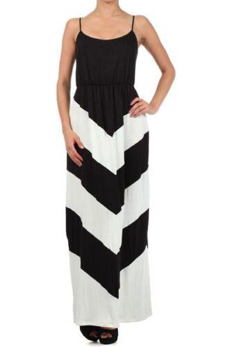 Pack Beach Vacation Spaghetti Strap Stripe Chevron Long Maxi Dress S-XL