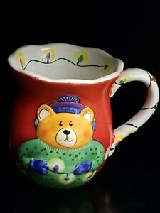 Clay-Art-Teddy-Bear-and-Christmas-Lights-Coffee-Mug-Cup