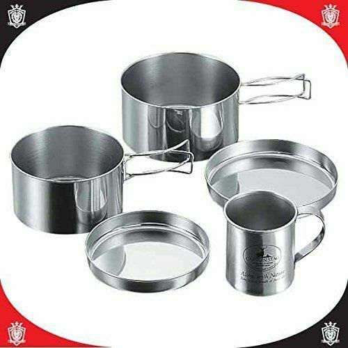 Captain Stag M-8578 Stainless Steel Camping Tableware Mug Set Outdoor Goods