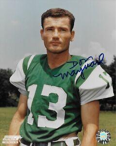 Don Maynard New York Jets Authentic Signed 8x10 Photo with COA
