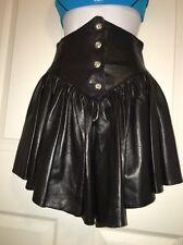 ��Rare Backstreet Black Biker Babe Leather Corset High Waisted High Low Skirt��