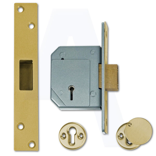 Unión C-Series 3g114 5 Palanca escoplos puerta bloqueo 67mm de latón pulido