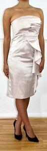 JULIAN-MACDONALD-Pearl-Satin-Strapless-Wedding-Guest-Dress-Uk-8