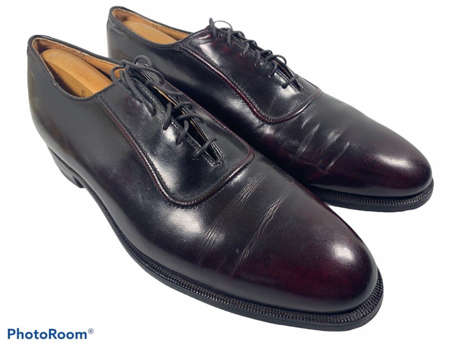 🔥 Johnston Murphy Aristocraft Brown Plain Toe Leather Shoes Men's Sz 12 B •Nice