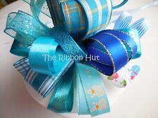 15mm - 25mm Blue Christmas Ribbon Bundle 8 X 1 Mtr by Berisfords