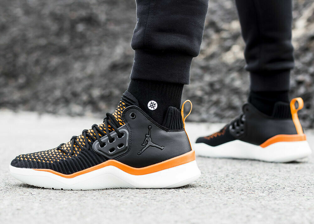 NIKE JORDAN DNA LX Flyknit Trainers Gym Casual - Black Copper - Various Sizes