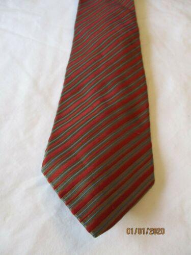 Jim Thompson Orange Striped Silk Neck Tie