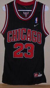Nike-Michael-Jordan-Chicago-Bulls-Black-Jersey-Men-s-52-XL-YOUTH
