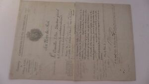 1827 nomination DEBITANTE DE TABAC Laveline VOSGES contributions indirectes - France - 360 X 238 mm - France