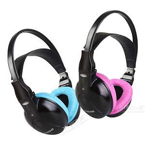 children kids wireless infrared ir headphone headset for