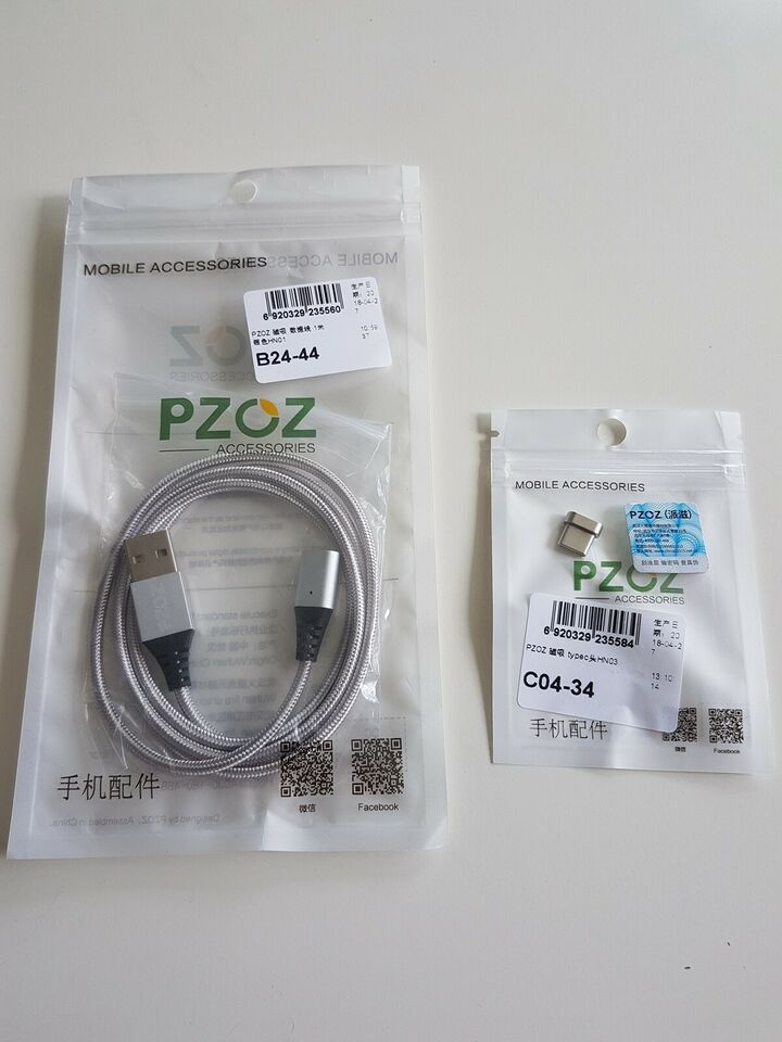 Oplader, Magnetisk Type C kabel, datakabel