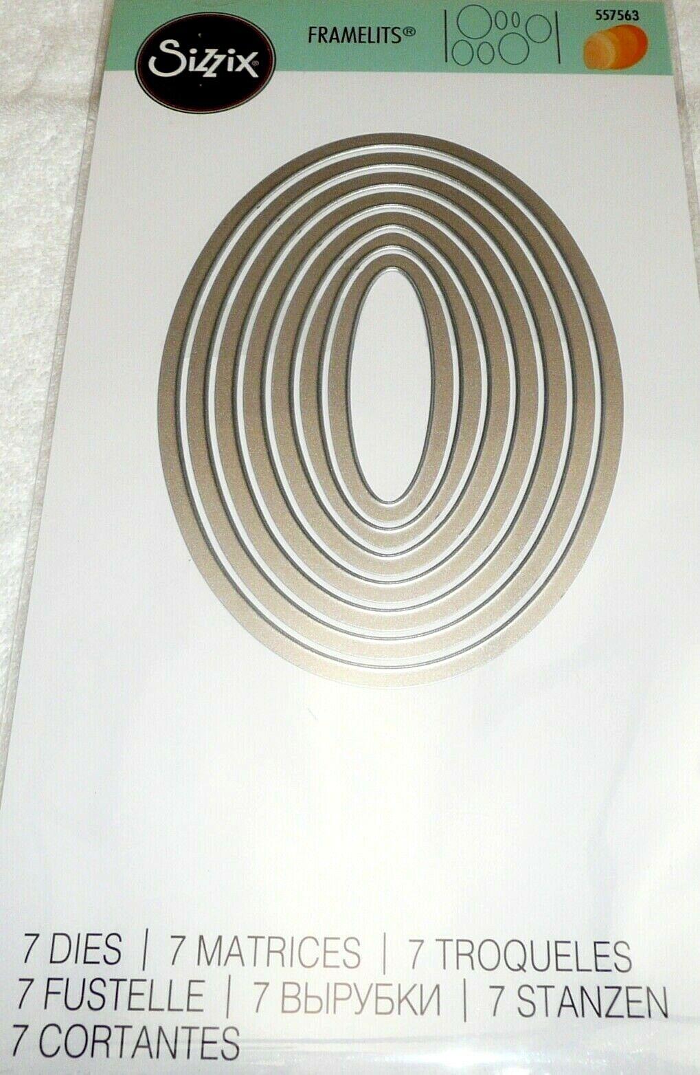 Sizzix Ovals Die Set 7 Framelits Dies 557563