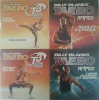Billy Blanks 4 Dvd Lot - Amped Sculpt Express Turbo Charger Fat Burner T3 Target