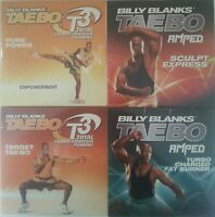 Billy Blanks 4 Dvd Lot - Amped Sculpt Express Turbo Charger Fat Burner T3 Target