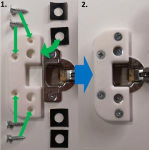 Hinge Repair Kit - IKEA PAX - DiscoLapy 1W1 (Lot 2 x Kit)