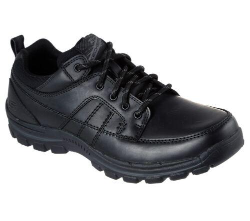 Hombre Zapatos Braver ralson Holgado Negro Cuero Cómodo Corte Skechers De dHqp1d