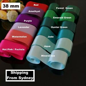 38-mm-X-6M-Double-side-Face-SATIN-Ribbon-Red-pink-lavender-green-orange-purple