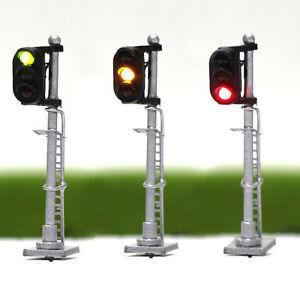 JTD1503GYR-3PCS-Model-Railroad-Train-Signals-3-Lights-Block-Signal-N-Scale-12V