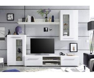 Schon Das Bild Wird Geladen Anbauwand Wohnwand  Wohnzimmerschrank 89 181 13 Enrique Weiss