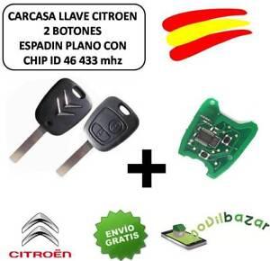 LLAVE-CARCASA-CITROEN-C1-C2-C3-C4-XSARA-SAXO-MANDO-2-BOTONES-CHIP-ID46-433-MHZ