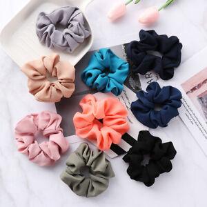 Pure-Color-Hair-Scrunchies-Elastic-Hair-Bands-Bobble-Sports-Scrunchie-Hairband