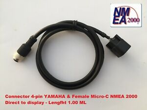 Yamaha Engine Lowrance Interface Cable Socket 4-pin NMEA 2000 direct to Display