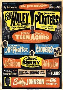 Shooting Star 1950s Vintage Concert Poster Bill Haley