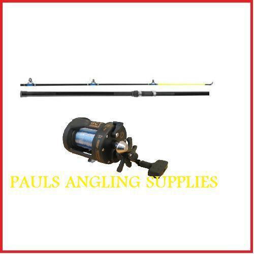 NEW 12 FT SEA FISHING ROD AND MULTIPLIER REEL +  LINE