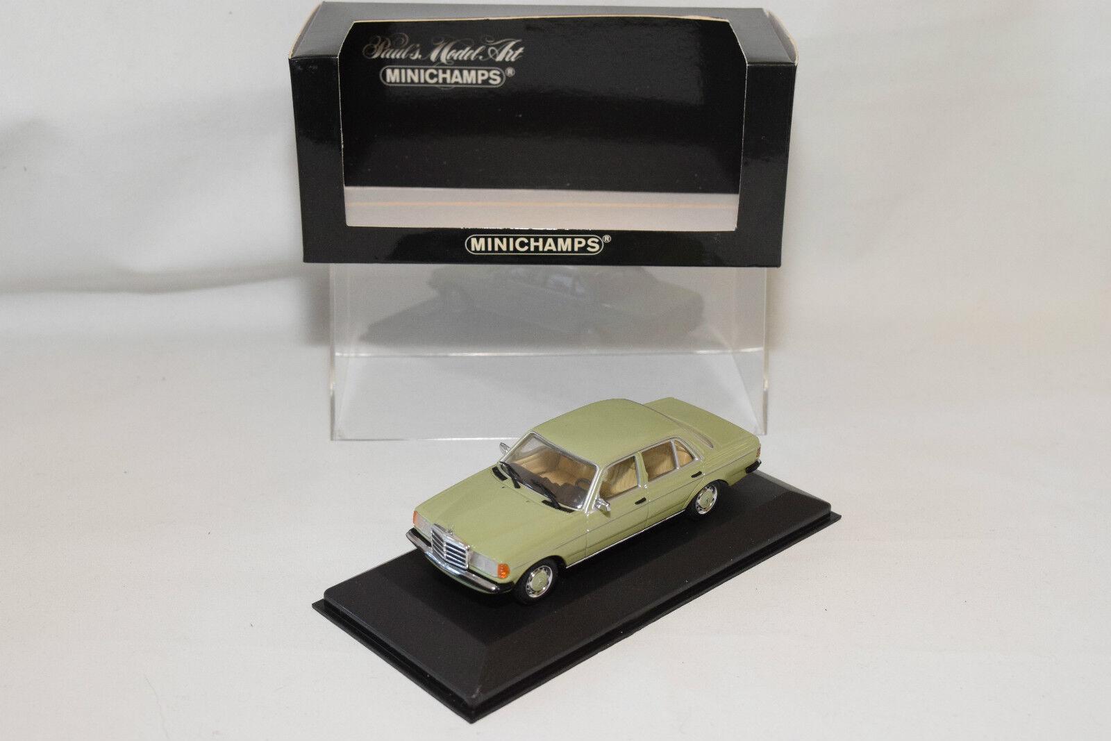 . MINICHAMPS MERCEDES BENZ 230E 230 E SALOON 1976 - 1985 verde MINT BOXED