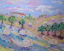 BIG fieno balle nella Valle & seconda casa: un grande dipinto su tela da JENNY LEPRE