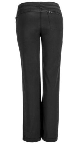 Black Cherokee Scrubs Infinity Low Rise Straight Leg Drawstring Pants 1123A BAPS