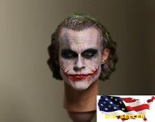 NEW 1/6 Custom Joker Head Sculpt 2.0 for hot toys DX11 DX01 Narrow Shoulder USA