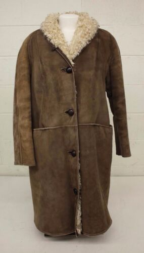 Fast Shipping Brown Coat Antartex Lambskin Cut Longer Great 16r Scotland Women's z4vq64