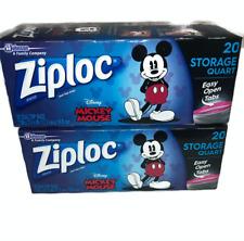 Ziploc Quarter Storage Bags Disney Mickey mouse 20 Count