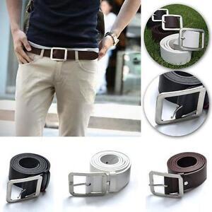 Casual-Women-039-s-Men-039-s-Faux-Leather-Belt-Pin-Belts-Waistband-Buckle-Waist-Strap-MT
