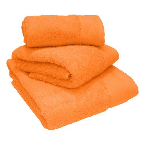 Luxe 100% Coton Égyptien Épais Lourd Peigné Mandarine serviettes et Tapis